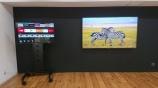 85型の液晶テレビ KJ-85X8500F を壁掛け施工させて頂きました。